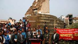 Nepal PM vows to speed up earthquake reconstruction
