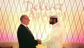 The UK's Minister of State for the Middle East, Alistair Burt MP, is received by SC Secretary Genera