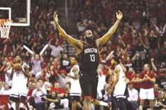James and Westbrook dominate, Rockets oust Timberwolves