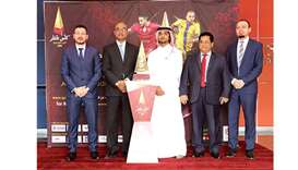 Grand reception for the Qatar Cup trophy at Toyota showroom
