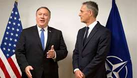 Pompeo in Brussels for show of support for Nato