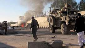 Suicide car bombing near a security facility in Afghanistan