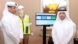 HE the Minister of Administrative Development, labour and Social Affairs Dr Issa Saad al-Jafali al-N