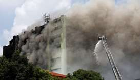 Five firefighters among 7 dead in Taiwan factory blaze