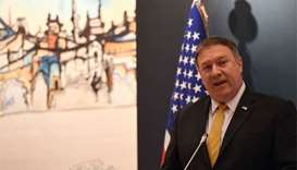 Pompeo talks tough on Iran in first trip to Mideast allies
