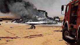 Three killed as military cargo plane crashes in Libya oilfield