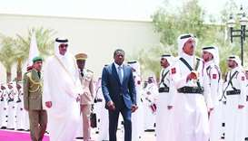 President of Togo Faure Essozimna Gnassingbe, accompanied by His Highness the Amir Sheikh Tamim bin