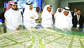 QBA chairman Sheikh Faisal bin Qassim al-Thani, who inaugurated QSSE 2018, during a tour of the even