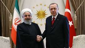 Erdogan, Rouhani meet in Ankara ahead of Syria summit