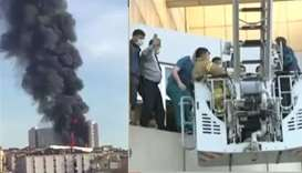Major fire at Istanbul hospital, patients evacuated