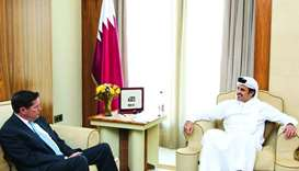 Emir meets Barclays Bank CEO