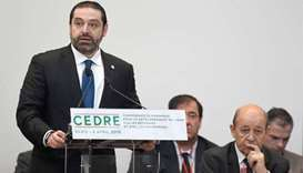 Lebanon wins initial pledges of $2.8bn at Paris conference