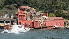 Tanker rams into historic mansion by Istanbul's Bosphorus
