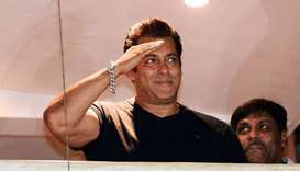 Salman Khan waves to fans