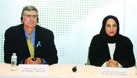 Dr Gregory J Moncada and Buthaina al- Nuaimi announcing the Qatar Academy for Science and Technology