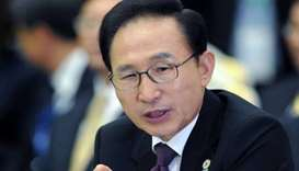 Former South Korean president Lee Myung-bak