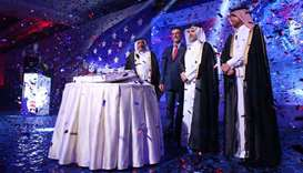 US chargé d'affaires William Grant, HE the Minister of Municipality and Environment Abdullah bin Abd