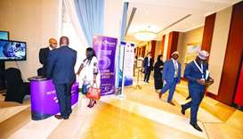 Participants at the IPU meetings visited Silatech's booth.
