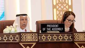 HE the Speaker of the Shura Council Ahmed bin Abdullah bin Zaid al-Mahmoud and President of the 140t