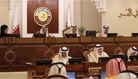 Regular weekly session of Shura Council