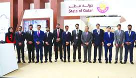 HE the Minister of Commerce and Industry Ali bin Ahmed al-Kuwari. and other senior officials at the