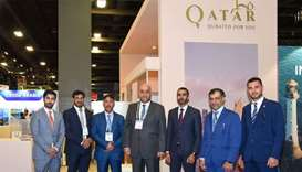 The Qatari delegation at the Seatrade Cruise Global Expo and Conference, in Miami.