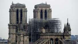 A view of Notre-Dame Cathedral today morning