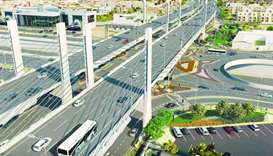 Artist's impression of Qatar's first cable-stayed bridge as seen from Faleh Bin Nasser Intersection