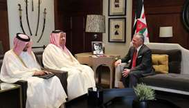 Jordan king meets defence minister