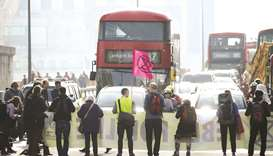 Climate protesters bring London to a standstill