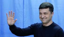 Vote count confirms comic's lead in Ukraine elections
