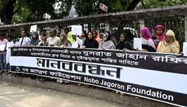 Bangladeshis protest after sexually assaulted girl burned to death