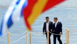 Greek PM visits North Macedonia