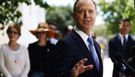 Chairman of the House Intelligence Committee Adam Schiff speaks at a press conference discussing tod