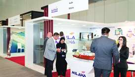 Milaha booth welcomes visitors during Moushtarayat 2019.