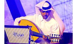 Qatar's Mohamed al-Sulaiti performing at the concert on Tuesday. PICTURE: Shaji Kayamkulam