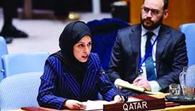 HE the Permanent Representative of Qatar to the United Nations, Sheikha Alya Ahmed bin Saif al