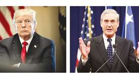 US President Donald Trump and US special counsel Robert Mueller.