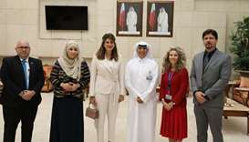 Princess Dina visits CNA-Q