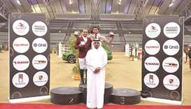 Big Tour winner Salmeen Sultan al-Suwaidi (top right) and runner-up Faleh Suwead al-Ajami