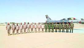 Chief of Staff visits Saqr 21 military exercise
