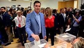 Spanish Prime Minister and Spanish Socialist Party (PSOE) candidate for prime minister Pedro Sanchez