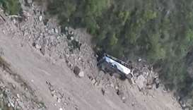 12 die as bus falls into gorge in northern India