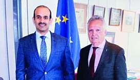 Al-Kaabi meets top official of European Commission