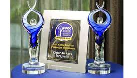 Qatar Airways has been given the 'PAX International Readership' award for 'Best Cabin Interior Passe