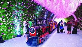 Medina Centrale's flower tunnel serves as the main attraction at the festival. PICTURES: Ram Chand