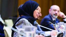 HE the Permanent Representative of the State of Qatar to the United Nations Sheikha Alya Ahmed bin S