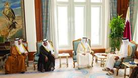 Amir meets Speaker of Kuwait