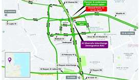 Temporary diversion of Al Gharrafa Interchange Roundabout