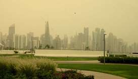 Dusty weather hits Doha